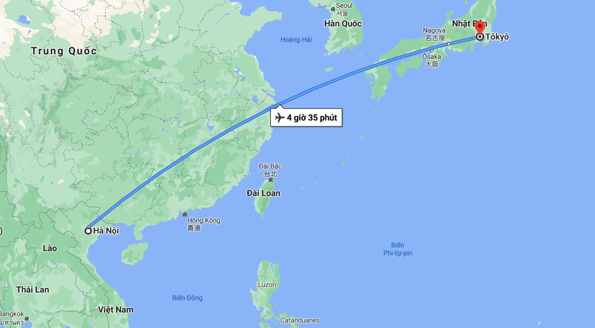 Bạn có biết Nhật Bản cách Việt Nam bao nhiêu km không?